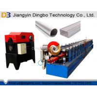 China Steel Downspout Forming Machine For Square / Round Shapes 1 Inch Chain Drive on sale
