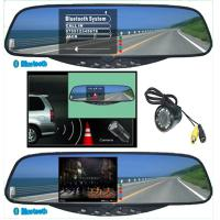 Best 3.5TFT Bluetooth Handsfree kits Bluetooth Stereo Handsfree Rearview Mirror car electronics products wholesale