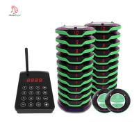 Best Easy operate full waterproof wireless guest calling coaster pager system with protective silicone wholesale