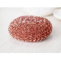 China Eco Friendly Pure Copper Dish Scrubber Mesh Shape For Hotel And Restaurant on sale