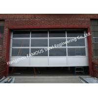 China Motorized Aluminum Insulated Tempered Glass Full View Overhead Garage Door on sale