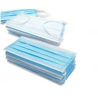 Best Blue 3 Layer Medical Face Mask High Filtration Efficiency  With Ear Loop wholesale