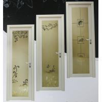 Best 1.0mm - 1.2mm profile thickness kitchen, bath room powder coated aluminum hinged doors wholesale