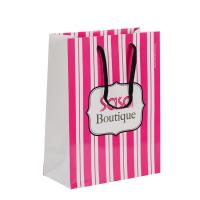 China Foldable Customized Branded Paper Bags / Paper Gift Bags With Rope Handles on sale