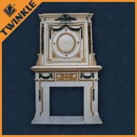 China Colorful Travertine / Stone Fireplace Mantel With French Style For Decro on sale
