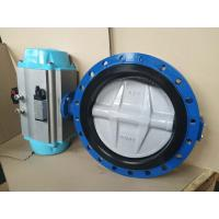 Best Stainless Steel Pneumatic Butterfly Valve Flange Type For Pneumatic Actuator wholesale