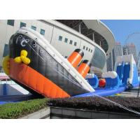 Best Custom Made Inflatable Obstacle Course With Titanic Slide PVC Tarp Materials wholesale