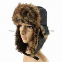 Cheap Men's Winter Hats with Fake Fur Lining and Earflaps for sale