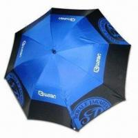 Best Double-layer Windproof Golf Umbrella with 14mm Black Fiberglass Shaft, Auto Open wholesale