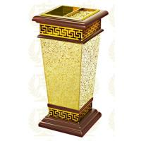 China Restaurant Room Service Equipments , GPX-182 Wood Dustbin With Diamond Simulation on sale