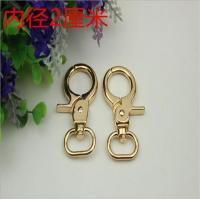 Best Bag accessory oval shape gold 20 mm metal dog leash snap hook for women handbag wholesale wholesale