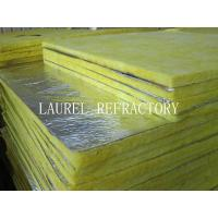China Glass Wool Blanket Refractory Insulation Materials / Fiberglass Wool Roll Thermal Roof Building Materials on sale
