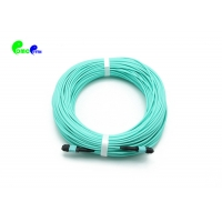 Best 12F Female To Male MM OM3 3.0 LSZH Aqua MPO Trunk Cable 70N wholesale