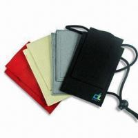 China Simple Design Mobile Phone Pouch, Made of Cloth Material on sale