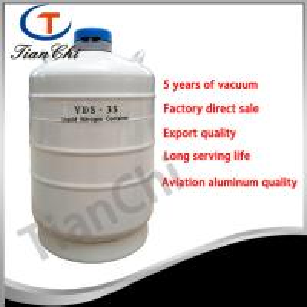 Cheap 35L Liquid nitrogen transport tank 50 mm Caliber cacuum container manufacturer for sale