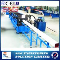 Best Square Water Downspout Roll Forming Machine With Safety Cover And Pipe Crimping Machine wholesale