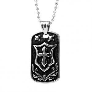 Best custom Anniversary 316 Stainless Steel mens black cross jewelry necklace wholesale
