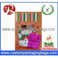 China Christmas Cellophane Plastic Treat Bags Recyclable With Snowman Printed on sale