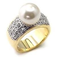 Best Fashion Alloy Pearl Jewelry Finger Rings wholesale