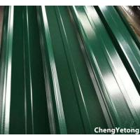 Best Green Color Coated Roofing Sheets / Precoated Roofing Sheets With Acid / Alkali Resistance wholesale