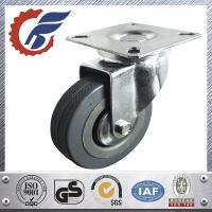 China 3 inch light duty rubber wheel castors swivel top plate mounting on sale