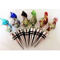 China Hand Blown Glass Wine Bottle Stoppers on sale