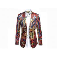 Best Qing Court Type Mens Printed Suits Ancient Painting Pattern Anti - Shrink wholesale