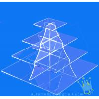 China CD (105) 4 tier acrylic square cake stand on sale