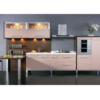 Modern Design Cherry Wood PVC Kitchen Cupboards , Wall Mounted Kitchen Cabinets