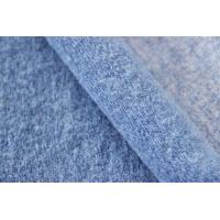 Buy cheap Light Blue Wool Knitted Solid Color Fabric For Winter Coat 610G / M Weight product