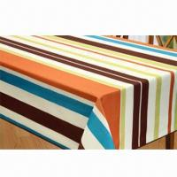 Cheap Table cloth, made of 100% polyester printing for sale