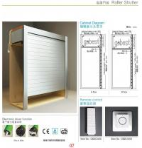 Best Kitchen Cabinet Roller Shutter Door Remote Control/Automatic Roll up Garage Door/Rapid Roller wholesale