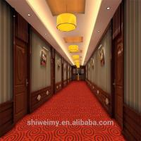 China Red high cut low loop circle pattern PP carpet for corridor on sale