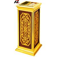 Best Titanium Gold Powder-coated Stand Up Cigarette bin -Floor Stand Ashtray Bins wholesale