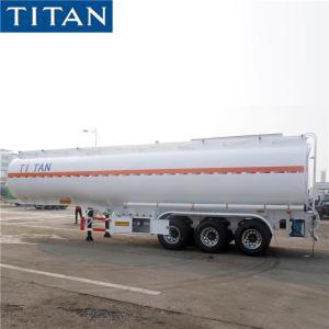 China Stainless Steel 40000 Liters Monoblock Fuel Tank Semi Trailer on sale
