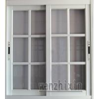 Best 1.4mm profile thickness security white material aluminum sliding windows with grid window wholesale