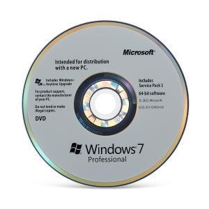 Best Lifetime Warranty Microsoft Windows 7 Professional SP1 32 / 64 Bit OEM Box wholesale