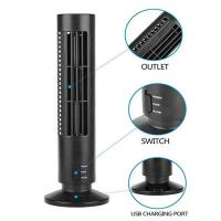Best Creative Household Mini Tower Fan , USB Tower Desk Fan With Manual And Remote Control wholesale