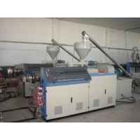 China PVC Sheet / Pipe Conical Double Screw Extruder For Extruding And Forming Pvc Pipe on sale