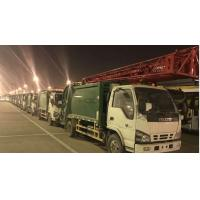 Best Export Isuzu brand 5000L green 6 wheels compressed garbage truck wholesale