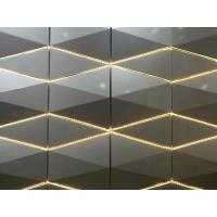 Best 3D Sharp RAL / PANTON Color Aluminum Panel Curtain Wall 4*0.5mm Thickness / Composite Building Materials wholesale