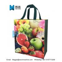 Best Fruit printing Promotional Ultrasonic Non woven Supermarket Shopping Bags wholesale