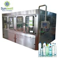 China 14 Heads Rotary Drinking Water Rinsing Filling Capping And Labeling Product Line on sale
