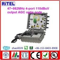 China CATV 1G Bi-directional AGC Outdoor Optic Receiver 4-port ON-4 on sale