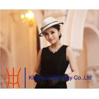 Best Yellow Red Fashion Women Ladies Sinamay Hats  For Special Occasion wholesale