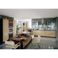 Best Commercial Yellow Pvc Kitchen Cabinets With Island Bench L Shape Integrated Kitchen wholesale