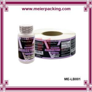 China Factory price medicine bottle label sticker, custom printed roll sticker ME-LB001 on sale
