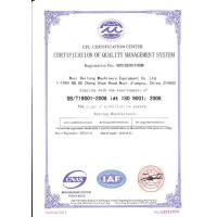 WUXI BEITONG BEARING CO.,LTD. Certifications