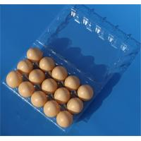 Buy cheap Disposable plastic egg tray 15 holes egg packaging box plastic egg tray 15 slots from wholesalers