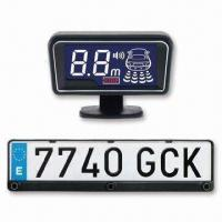 China Shinning Edge LCD Display License Plate Frame Parking Sensor, Used for Europe/Russia Number Plate on sale